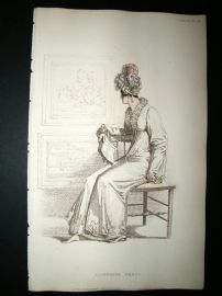 Ackermann 1815 Hand Col Regency Fashion Print. Carriage Dress 13-29
